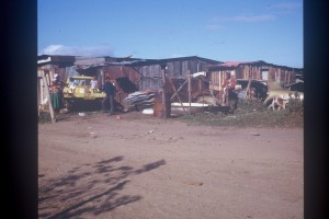 A typical scene from Knysna's squatter camps in the 1980s. Sadly, there are still some homes that look like these.