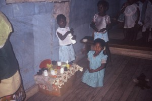 Children playing at one of the creches my mother started with her colleague Paula Whitney.